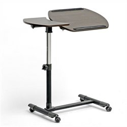 Baxton Studio Olsen Wheeled Laptop Tray Table in Dark Brown
