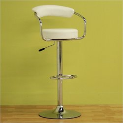 Baxton Studio Omicron Stool in White (Set of 2)
