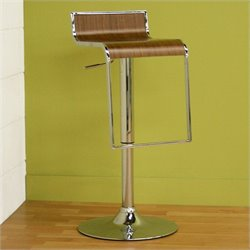 Baxton Studio Lem Piston Stool in Walnut (Set of 2)