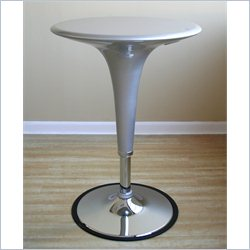 Baxton Studio Nu Bar Table in Silver (Set of 2)