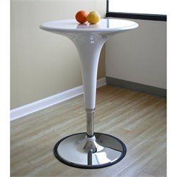 Baxton Studio Nu Bar Table in White (Set of 2)