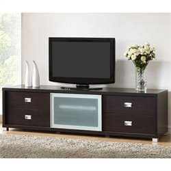Baxton Studio Botticelli TV Stand in Dark Brown