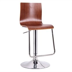 Baxton Studio Lynch Bar Stool in Walnut (Set of 2)
