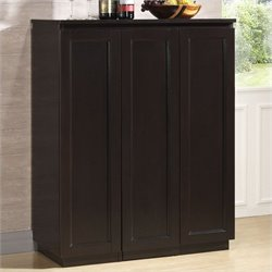 Baxton Studio Baltimore Home Bar Cabinet in Dark Brown