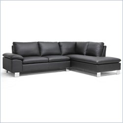 Baxton Studio Toria Sectional Sofa in Black