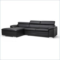Baxton Studio Franklin Sectional Sofa in Black