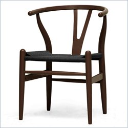 Baxton Studio Wishbone Y Dining Chair in Dark Brown