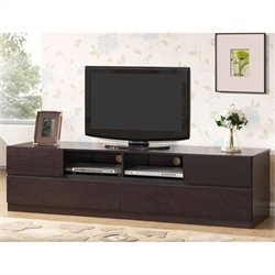 Baxton Studio Lovato TV Stand in Dark Brown