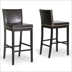 Graymoor Bar Stool in Dark Brown (Set of 2)