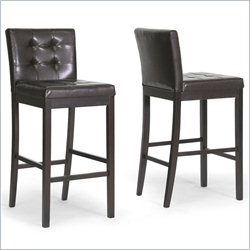 Prospect Bar Stool in Dark Brown (Set of 2)