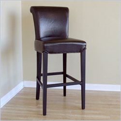 Bianca Bar Stool in Dark Brown (Set of 2)