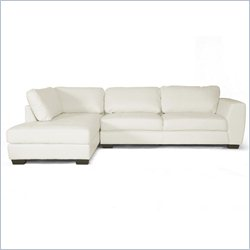 Baxton Studio Orland Left Facing Sectional Sofa in White