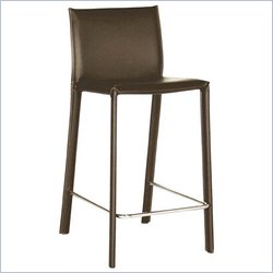 Baxton Studio Counter Stool in Brown (Set of 2)
