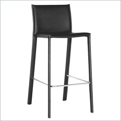 Bar Stool in Black (Set of 2)