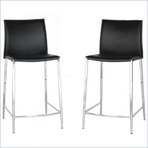 Jenson Counter Height Stool in Black (Set of 2)