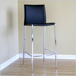 Baxton Studio Jenson Bar Stool in Black (Set of 2)