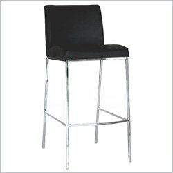 Baxton Studio Mesa Bar Stool in Black (Set of 2)