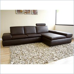 Baxton Studio Sectional Cum Daybed in Brown