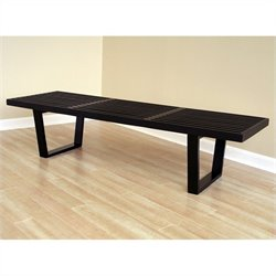 Baxton Studio Nelson Bench in Black