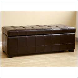 Baxton Studio Storage Bench Ottoman in Dark Brown