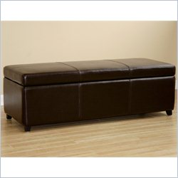 Baxton Studio Large Bench Ottoman in Dark Brown
