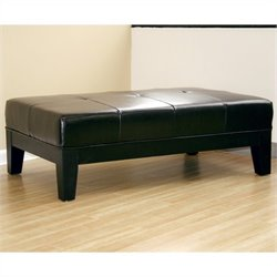 Baxton Studio Cocktail Ottoman in Black