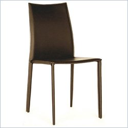 Baxton Studio Rockford Dining Chair in Brown (Set of 2)