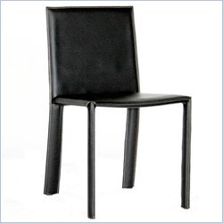 Baxton Studio Regal Dining Chair in Black (Set of 2)