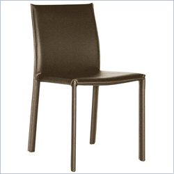 Baxton Studio Burridge Dining Chair in Brown (Set of 2)
