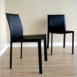 Baxton Studio Burridge Dining Chair in Black (Set of 2)