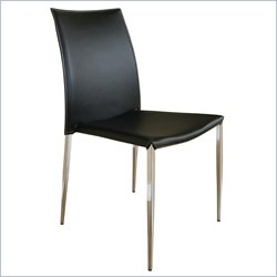 Baxton Studio Benton Dining Chair in Black (Set of 2)