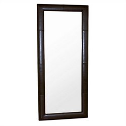 Baxton Studio Floor Mirror in Dark Brown