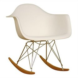 Baxton Studio Rocking Chair in White