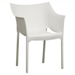 Pastic Arm Chair in White (Set of 2)