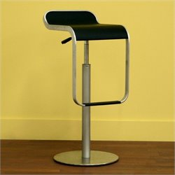 Adjustable Bar Stool in Black (Set of 2)