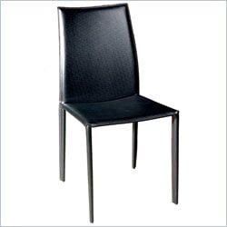 Baxton Studio Rockford Dining Chair in Black (Set of 2)