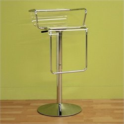 Baxton Studio Dessa Barstool in Clear
