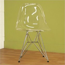 Baxton Studio Lexy Accent Chair in Clear (Set of 2)
