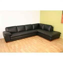 Baxton Studio Sectional in Black