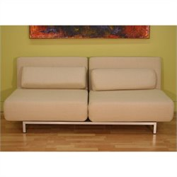 Baxton Studio 2 Seat Sofa Chair in Cream
