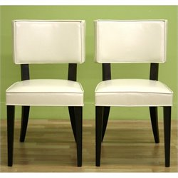 Baxton Studio Thyra Dining Chair in Cream (Set of 2)