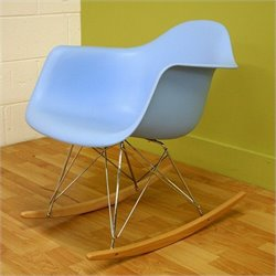 Baxton Studio Rocking Chair in Blue