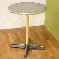 Baxton Studio Eustace Bar Table in Silver (Set of 2)