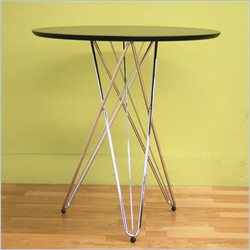Baxton Studio Daimen Bistro Table in Black