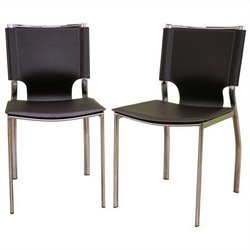 Baxton Studio Dining Chair in Brown (Set of 2)