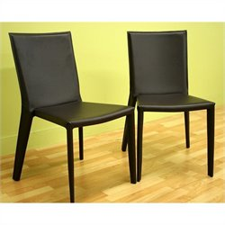 Baxton Studio Semele Dining Chair in Brown (Set of 2)