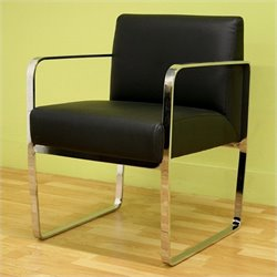 Baxton Studio Meg Chair in Black