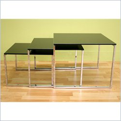 Baxton Studio Nara Nesting Table in Black