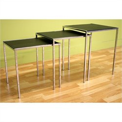 Baxton Studio Deo Nesting Table in Black