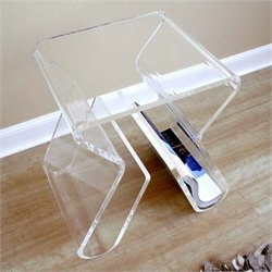 Baxton Studio End Table in Clear